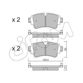 Brake Pad Set, disc brake Thickness 1: 17,0mm with OEM Number 8W0 698 451 K