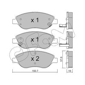 Bremsbelagsatz, Scheibenbremse Dicke/Stärke 1: 19,0mm mit OEM-Nummer 77367923