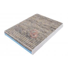 Filter, Innenraumluft Länge: 283mm, Breite: 206mm, Höhe: 30mm mit OEM-Nummer 65 61910 0001