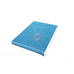 Filter, interior air Length: 283mm, Width: 206mm, Height: 25mm with OEM Number 1H0819638B