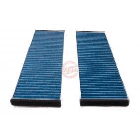 Filter, Innenraumluft Länge: 288mm, Breite: 215mm, Höhe: 34mm mit OEM-Nummer 1K1819653A
