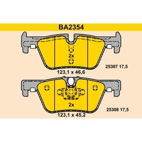 Bremsbelagsatz, Scheibenbremse Breite 2: 123,1mm, Höhe 1: 45,2mm, Höhe 2: 46,6mm, Dicke/Stärke: 17,5mm mit OEM-Nummer 34 21 6 873 093