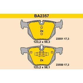 Bremsbelagsatz, Scheibenbremse BA2357 3 Touring (E91) 320d 2.0 Bj 2004