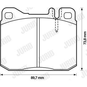 Bremsbelagsatz, Scheibenbremse Höhe 1: 74mm, Dicke/Stärke: 17,5mm mit OEM-Nummer 001 420 99 20
