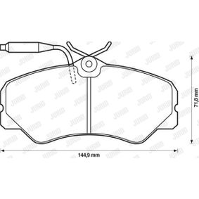 Bremsbelagsatz, Scheibenbremse Höhe 1: 70mm, Dicke/Stärke: 19,3mm mit OEM-Nummer 9 940 999