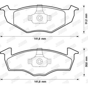Bremsbelagsatz, Scheibenbremse Höhe 1: 44mm, Dicke/Stärke: 13,9mm mit OEM-Nummer 9 200 132