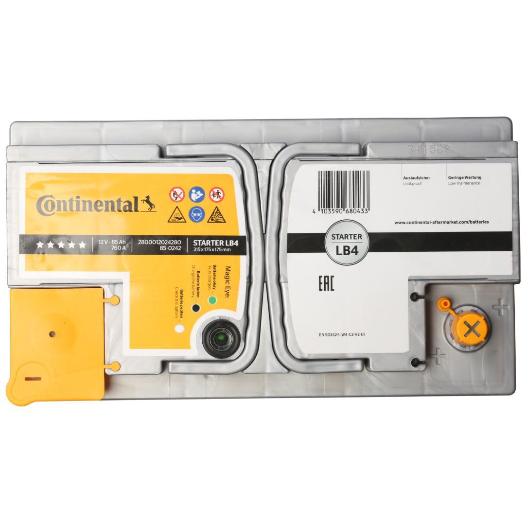 Continental Starter 2800012024280 Starterbatterie