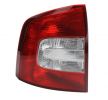 Rear lights ABAKUS 13545736 Left, without bulb, without lamp base, Outer section, P21W, PY21W