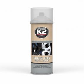 Automotive paints K2 L343CL for car (Spraycan, Crystal clear, Elastomer, Contents: 400ml)