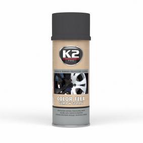 Automotive paints K2 L343CM for car (Spraycan, BLACK MATTE, Contents: 400ml)