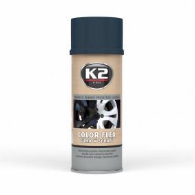 Automotive paints K2 L343CR for car (Spraycan, Carbon, Elastomer, Contents: 400ml)