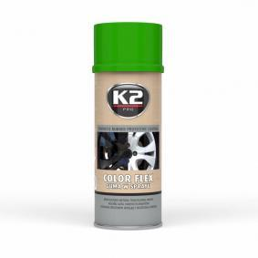 Automotive paints K2 L343JZ for car (Spraycan, Green, Elastomer, Contents: 400ml)
