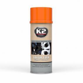 Automotive paints K2 L343PO for car (Spraycan, Orange, Elastomer, Contents: 400ml)