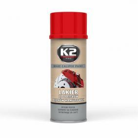 Pintura pinza de freno K2 L346CE para auto (Bote aerosol, rojo, Contenido: 400ml)