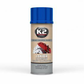 Pintura pinza de freno K2 L346NI para auto (Bote aerosol, azul, Contenido: 400ml)