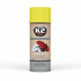 Pintura pinza de freno K2 L346ZO para auto (Bote aerosol, amarillo, Contenido: 400ml)