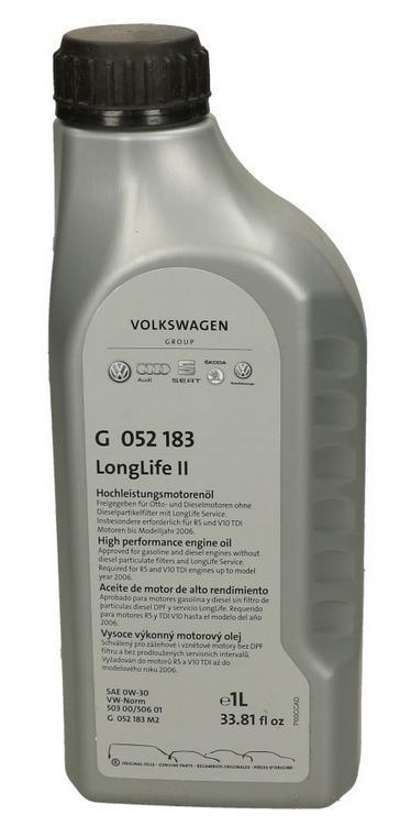 VAG LongLife II G052183M2 Motoröl