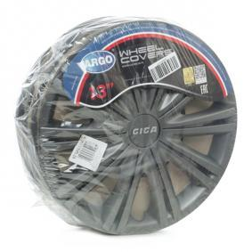 Wheel covers Quantity Unit: Kit, Black 13GIGADARK