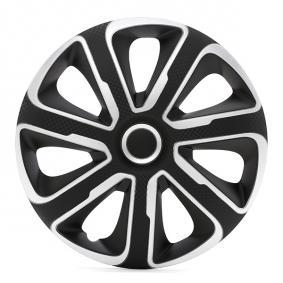 Proteções de roda Unidade de quantidade: Jogo, preto/prateado, carbono 14LIVORNOCARBONSB