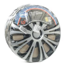 Hjulkapsler Mengdeenhet: Sett, svart/sølv 15AVERASILVERBLACK