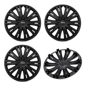 Proteções de roda Unidade de quantidade: Jogo, preto 15GIGABLACK