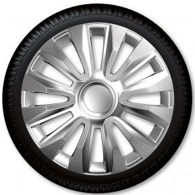 Hjulkapsler Mængdeenhed: sæt, sølv/carbon 16AVALONECARBON