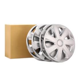 Kołpak Jednostka ilości: Zestaw, srebrny/węglowy 16LIVORNOCARBON