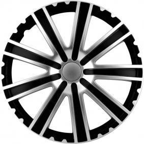Hjulkapsler Mengdeenhet: Sett, svart/sølv 16TORO