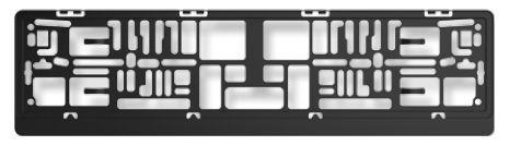 ARGO  CATALUNYA CZARNA Licence plate holders