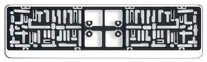 Licence plate holders ARGO DACAR CHROM rating
