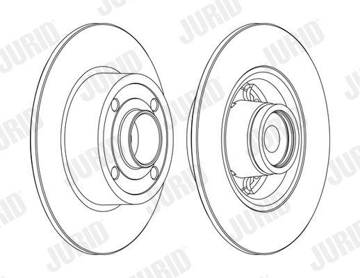 JURID  562376J-1 Bremsscheibe Bremsscheibendicke: 8mm, Lochanzahl: 4, Ø: 240mm