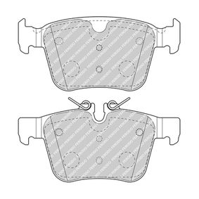 Brake Pad Set, disc brake Height 1: 56mm, Thickness: 16,2mm with OEM Number LR123595