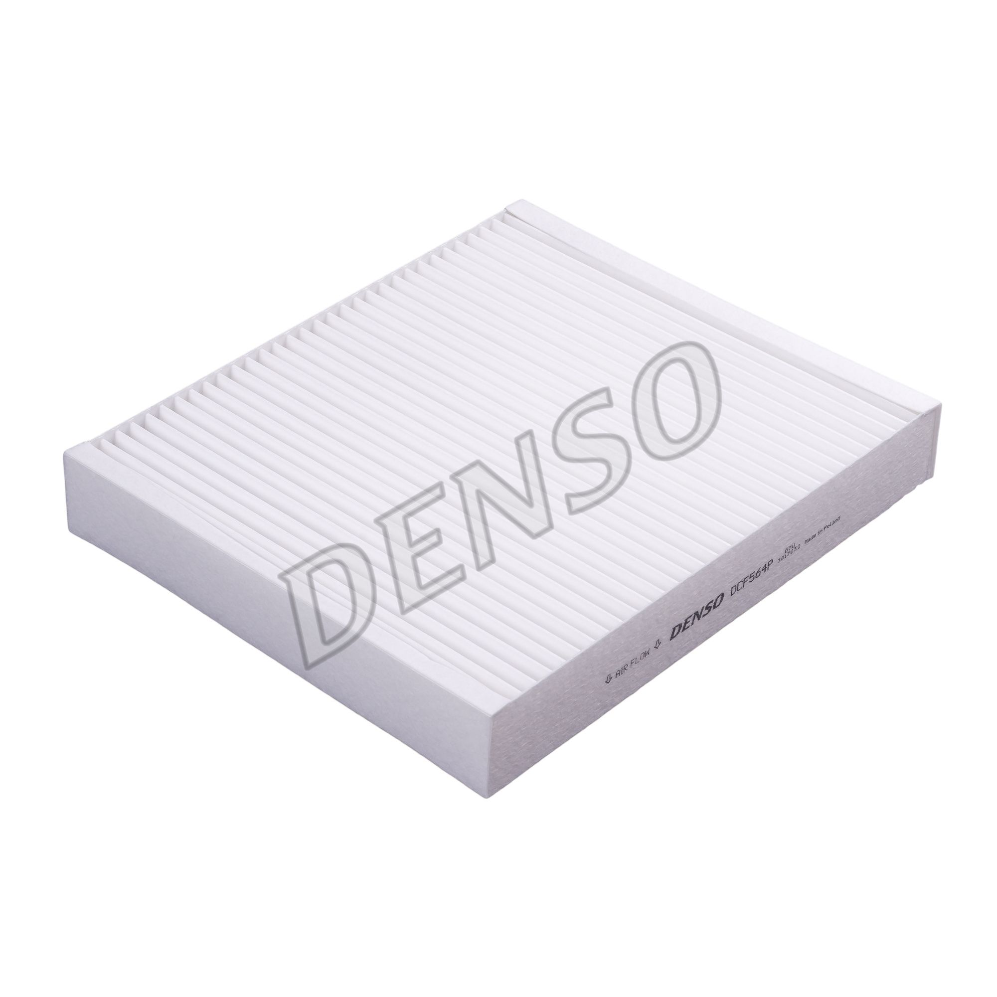 DENSO  DCF564P Filtro, aire habitáculo Long.: 240mm, Ancho: 204mm, Altura: 35mm
