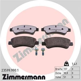 Brake Pad Set, disc brake Width: 137mm, Height: 51mm, Thickness: 18,8mm with OEM Number E 172 227