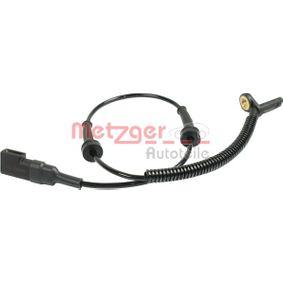 Sensor, Raddrehzahl Pol-Anzahl: 2-polig mit OEM-Nummer 4 370 937