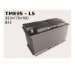 OEM Starterbatterie TME95 von IPSA für VW