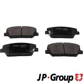Bremsbelagsatz, Scheibenbremse Dicke/Stärke: 17,3mm mit OEM-Nummer 581012TA61