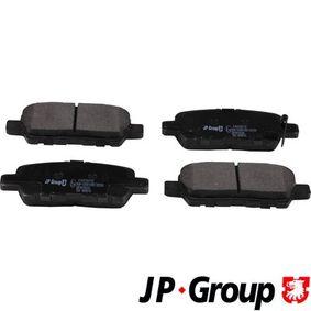Nissan Juke f15 1.2 DIG-T Bremsbeläge JP GROUP 4763700110 (1.2 DIG-T Benzin 2017 HRA2DDT)