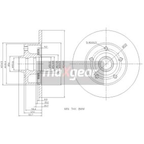 MAXGEAR  19-3362 Bremsscheibe Bremsscheibendicke: 10,0mm, Ø: 245mm