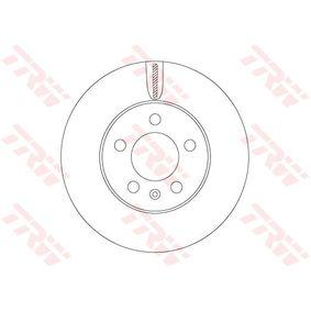TRW  DF6584 Bremsscheibe Bremsscheibendicke: 22mm, Lochanzahl: 5, Ø: 256mm