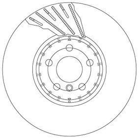 TRW  DF6891S Bremsscheibe Bremsscheibendicke: 36mm, Lochanzahl: 5, Ø: 348mm