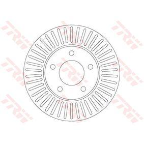 TRW  DF6922 Bremsscheibe Bremsscheibendicke: 24mm, Lochanzahl: 5, Ø: 278mm