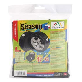 Tire bag set Tyre Size: 175/70-R14, 175/80-R14, 185/60-R14, 185/65-R14, 185/70-R14, 195/60-R14, 195/65-R14, 205/65-R14, 185/55-R15, 185/60-R15, 195/50-R15, 195/55-R15, 195/60-R15, 195/65-R15, 195/70-R15, 205/55-R15, 205/65-R15, 195/50-R16, 195/65-R16, 205/55-R16, 225/45-R17, Size: L 534142064010