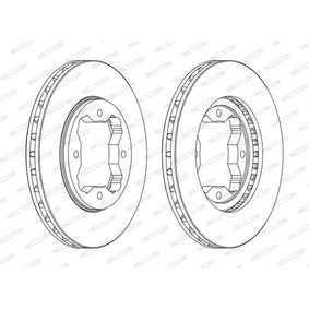 FERODO  DDF450C Bremsscheibe Bremsscheibendicke: 23mm, Lochanzahl: 4, Ø: 259mm
