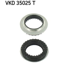 Anti-Friction Bearing, suspension strut support mounting with OEM Number 6N0412249C+