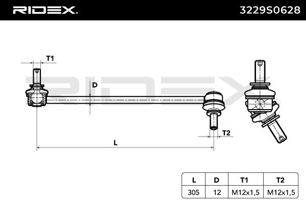 RIDEX 3229S0628 EAN:4059191730612 online store