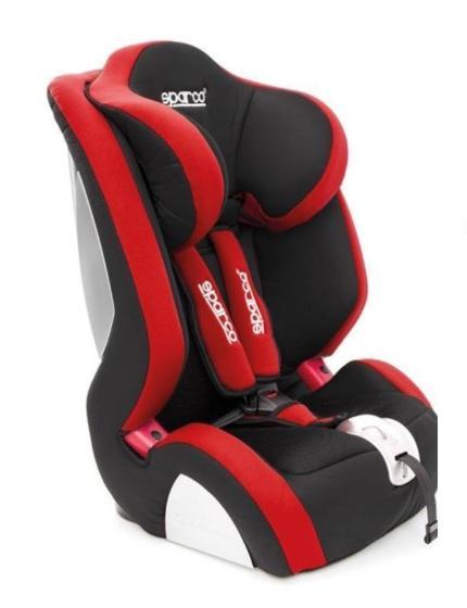 SPARCO F1000K 1000KRD Детска седалка Тегло на детето: 9-36кг, Собствени предпазни колани: 3-точков обезопасителен колан