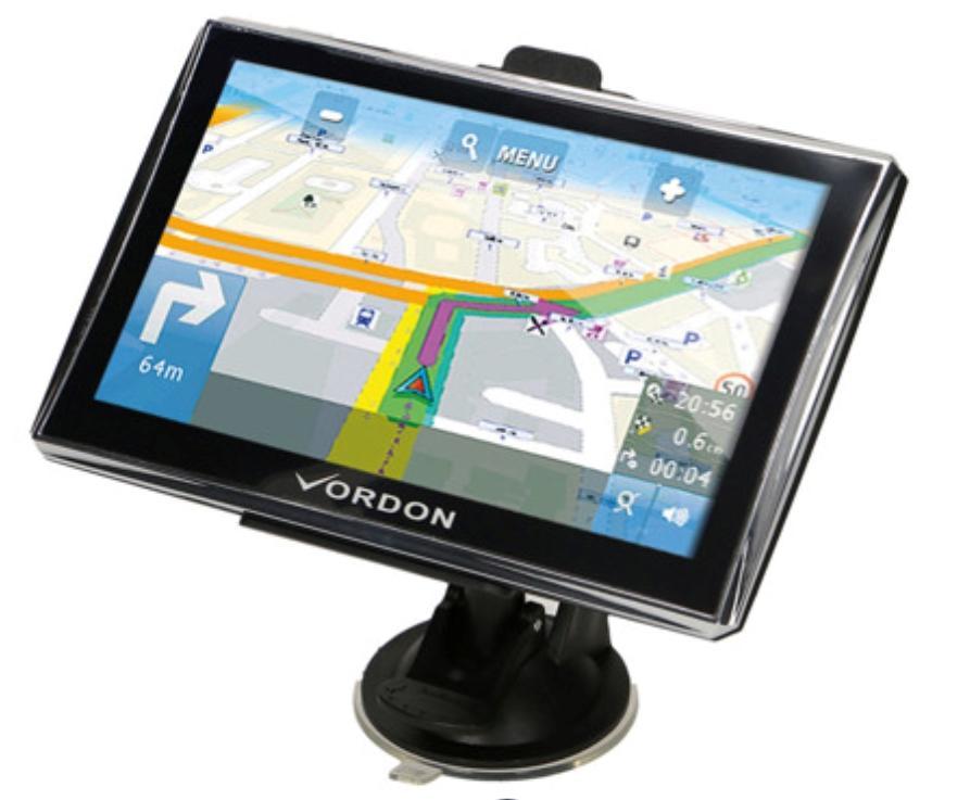 VORDON  VGPS7EUAV Navigationssystem Engelsk, Polsk, Tysk