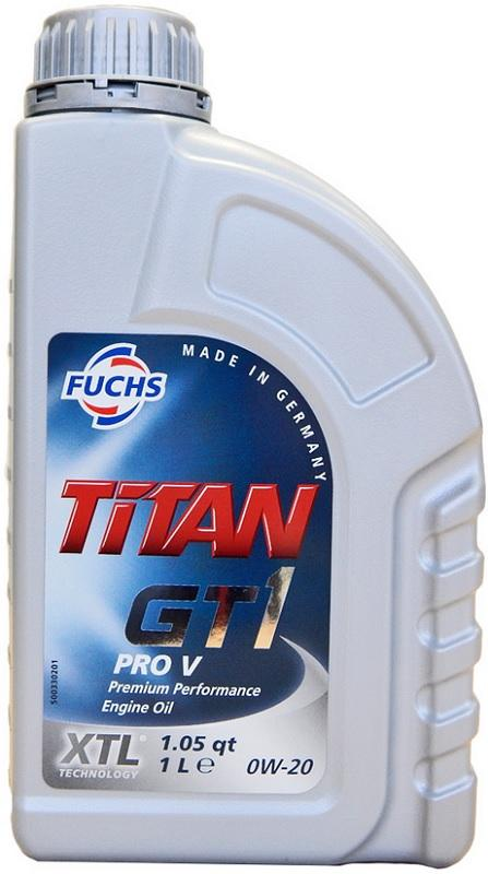 FUCHS TITAN, GT1 PRO V Engine Oil 0W-20, Capacity: 1l, Full Synthetic Oil