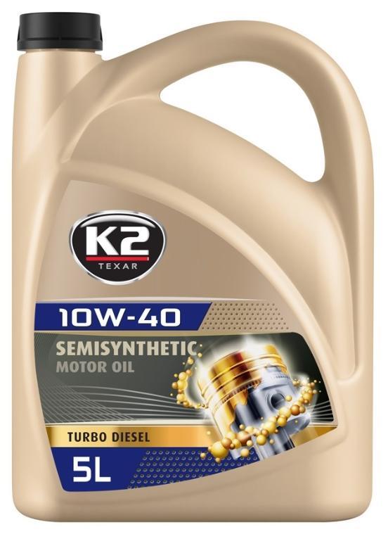 K2 Olej silnikowy TEXAR, TURBO DIESEL, 10W-40, 5l O24D0005